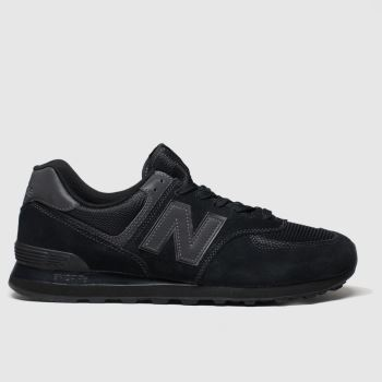 Mens New Balance Black 574 Trainers