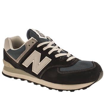 mens new balance navy & grey 574 trainers