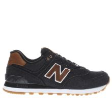 New Balance Black & Brown 574 Mens Trainers