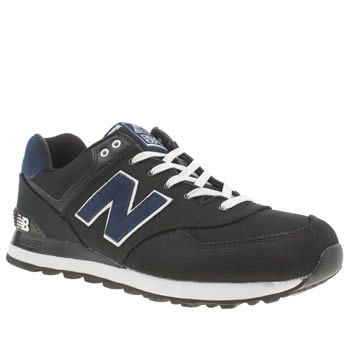 Mens New Balance Black & Navy 574 Trainers