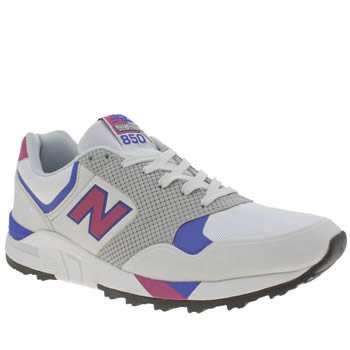 New Balance White & Pink 850 Trainers