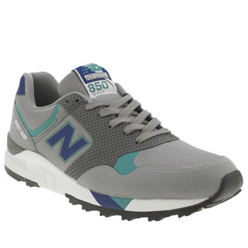 New Balance Grey & Navy 850 Trainers