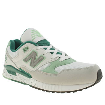 New Balance White & Green 530 Mens Trainers