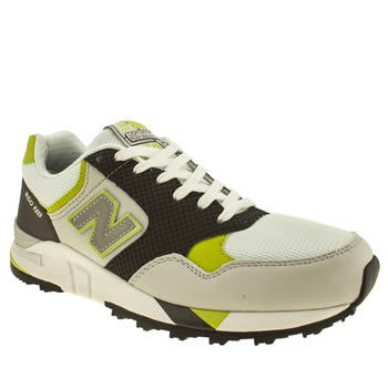 mens new balance white & green 850 trainers