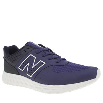 New Balance Navy & White 574 Fresh Foam Trainers