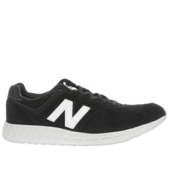 New Balance Black & White 574 Fresh Foam Mens Trainers