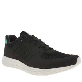 Mens New Balance Black & Green 574 Fresh Foam Trainers