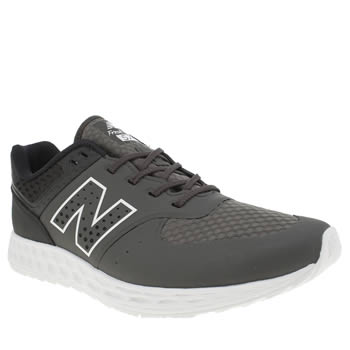 NEW BALANCE GREY & BLACK 574 FRESH FOAM TRAINERS