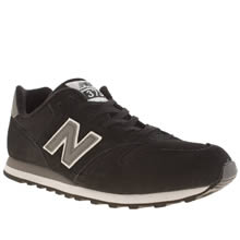 Black & White New Balance 373