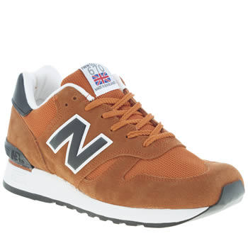 mens new balance orange 670 trainers