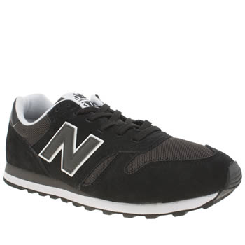 New Balance Black & Grey 373 Trainers