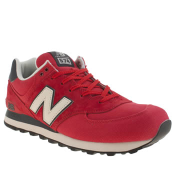 Mens New Balance Red 574 Trainers
