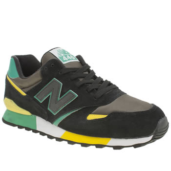 New Balance Black & Green 446 Trainers