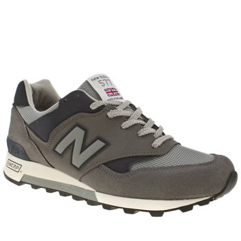 mens new balance grey & navy 577 trainers