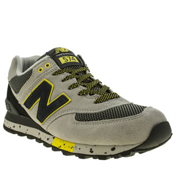 New Balance Grey & Black 574 90s Outdoor Trainers