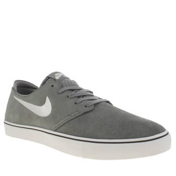 Mens Nike Sb Light Grey Zoom Oneshot Trainers