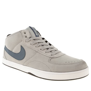 mens nike skateboarding light grey mavrik mid 3 trainers
