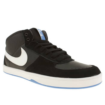 mens nike skateboarding black mavrk mid 3 trainers