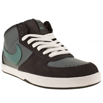 mens nike skateboarding dark grey mavrik mid 3 trainers