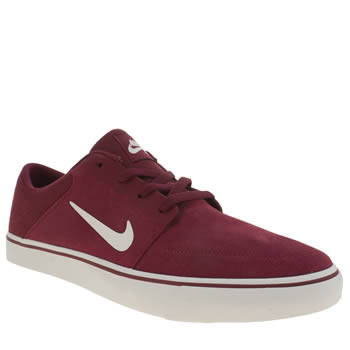 Mens Nike Skateboarding Red Portmore Trainers