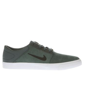 Nike Sb Green Portmore Mens Trainers