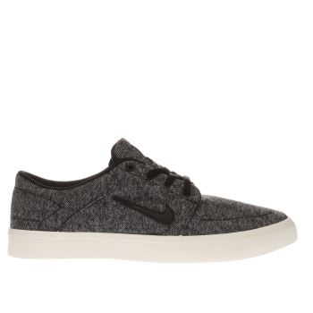 Nike Sb Black Portmore Canvas Premium Mens Trainers