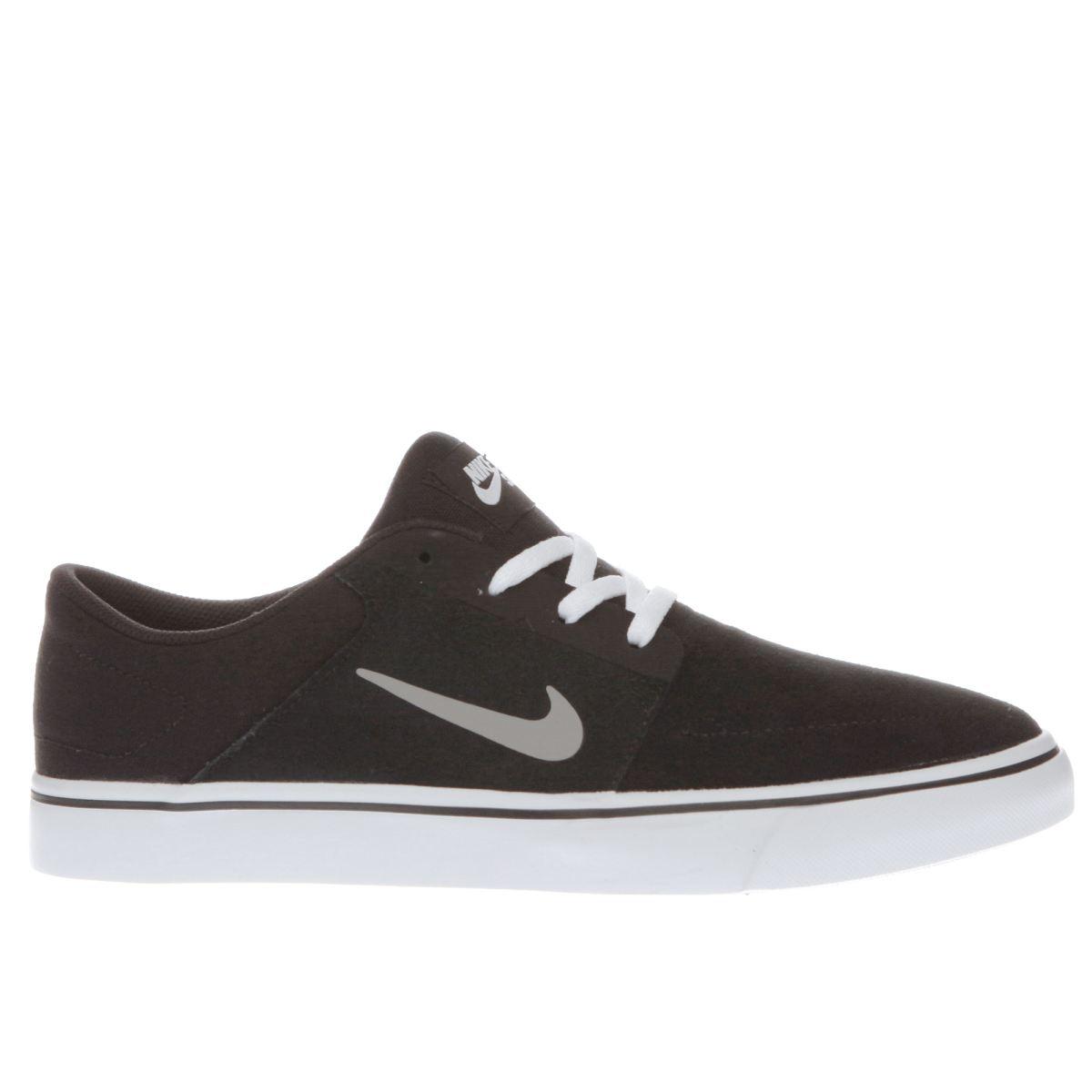 nike sb black & grey portmore trainers