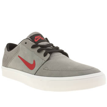 Mens Nike Skateboarding Grey Portmore Trainers