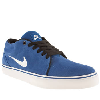 Nike Skateboarding Blue Satire Mid Trainers