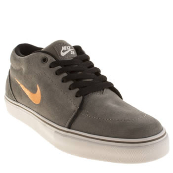 mens nike skateboarding grey satire mid trainers