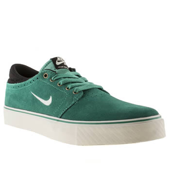 Mens Nike Skateboarding Turquoise Team Edition Trainers