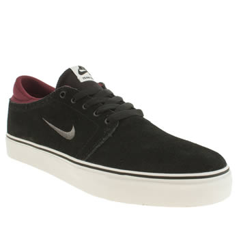 Mens Nike Skateboarding Black & Red Zoom Team Edition Trainers