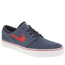 Nike Sb Navy & Red Zoom Stefan Janoski Mens Trainers