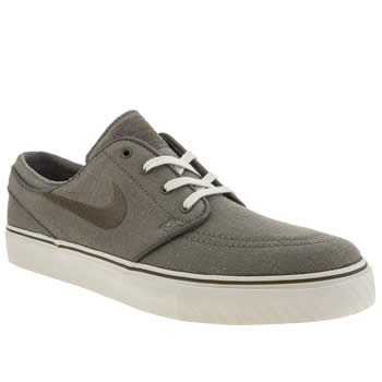 Mens Nike Skateboarding Light Grey Stefan Janoski Trainers