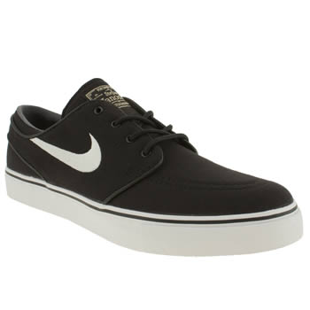 mens nike skateboarding black & white zoom stefan janoski trainers
