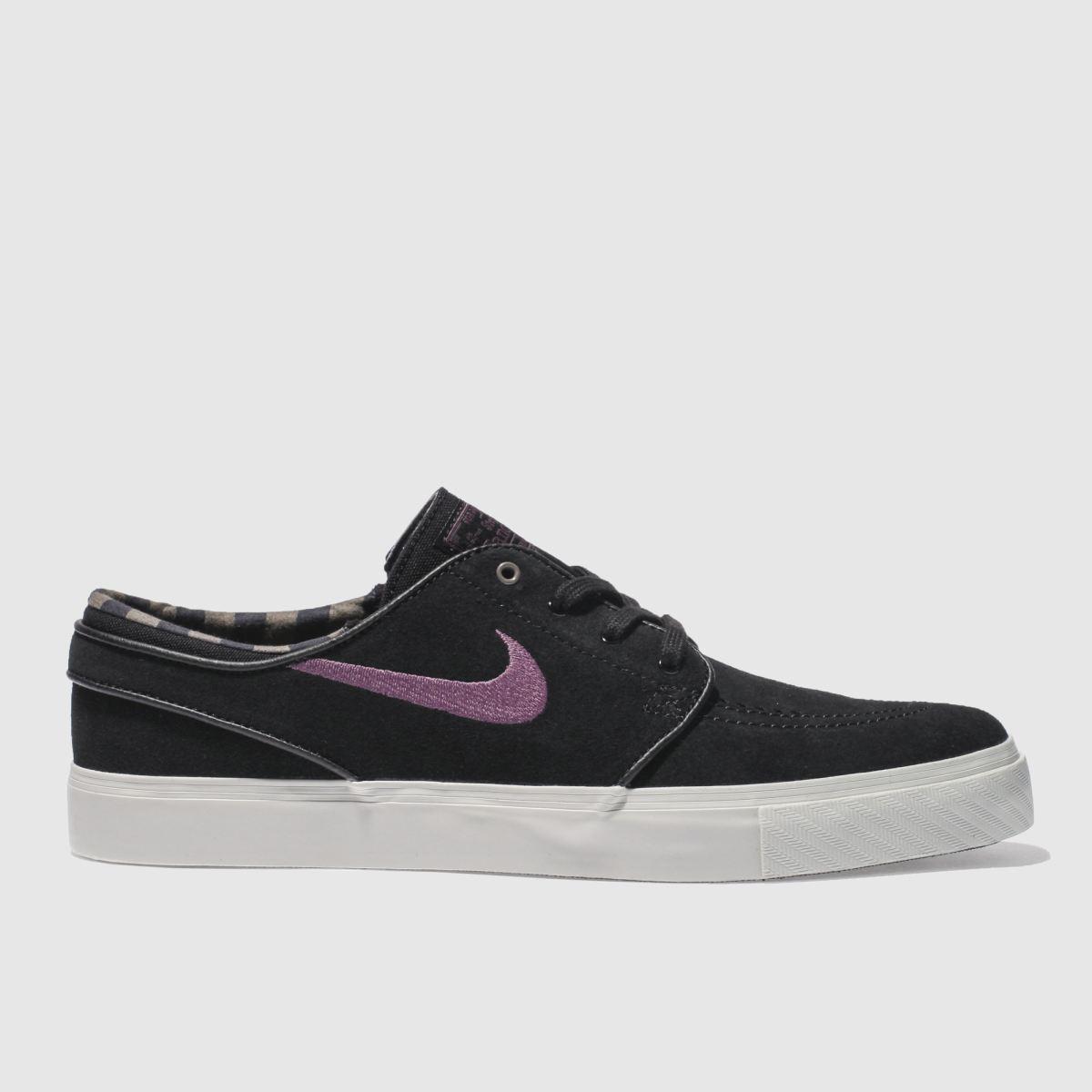 Nike SB Nike Sb Black & Purple Zoom Stefan Janoski Trainers