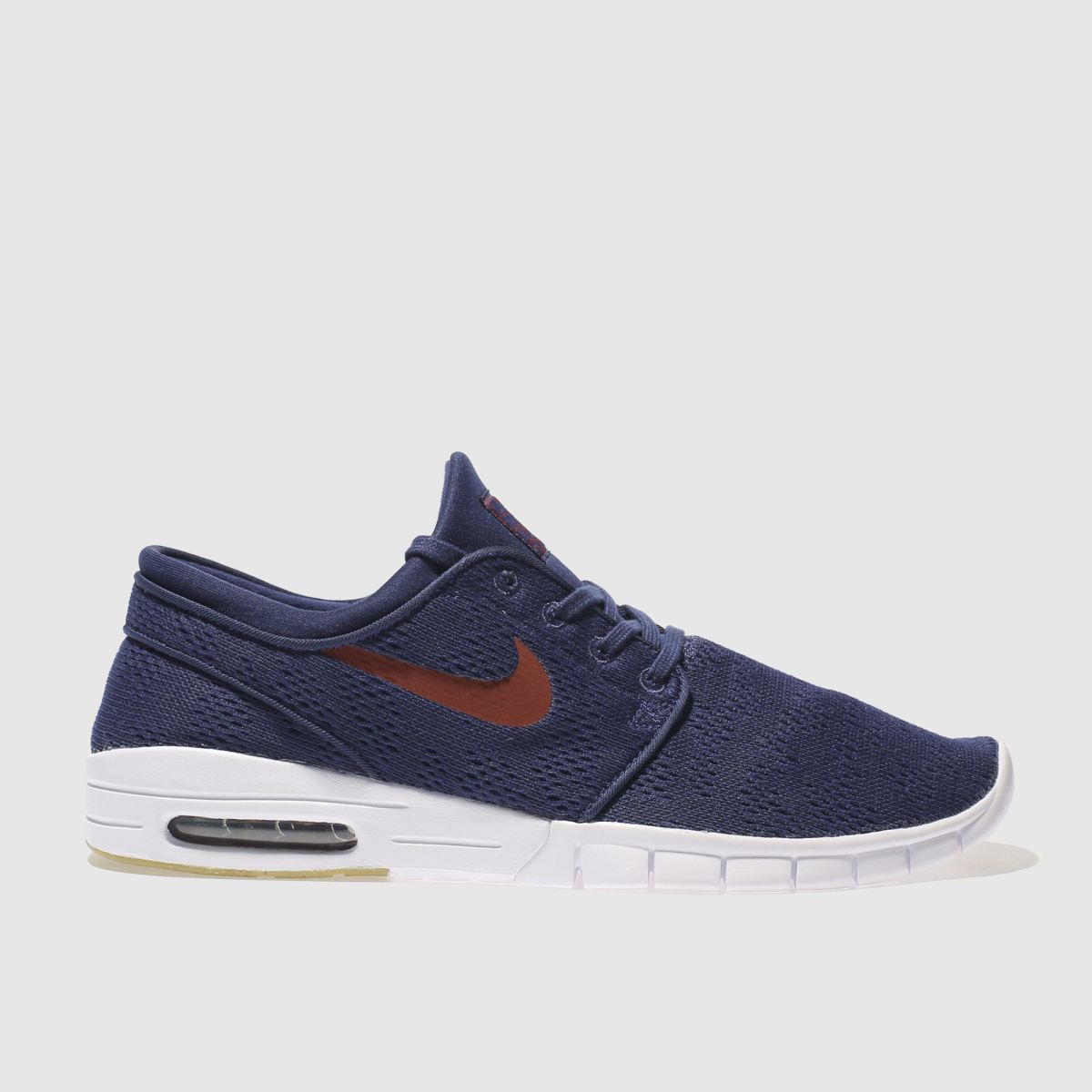 nike sb navy & red stefan janoski max trainers