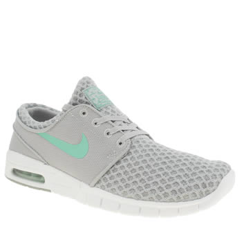 Mens Nike Skateboarding Light Grey Stefan Janoski Max Trainers