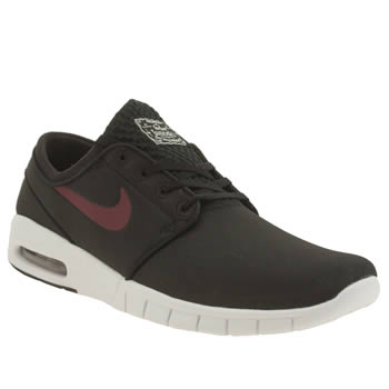 Nike Skateboarding Black & Red Stefan Janoski Max Trainers