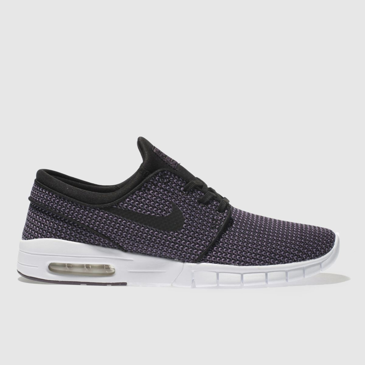 Nike Sb Black & Purple Stefan Janoski Max Trainers