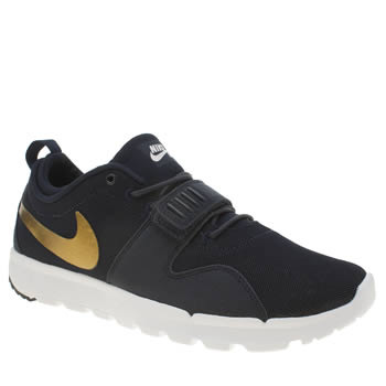 Mens Nike Sb Navy & Gold Trainerendor Trainers