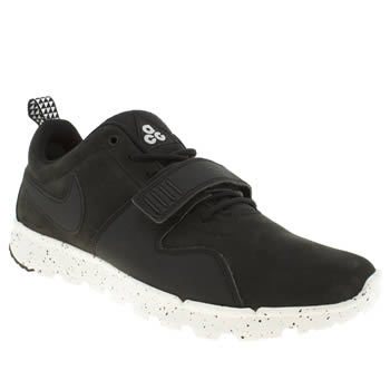 mens nike skateboarding black & white trainerendor trainers