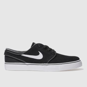 Mens Nike Skateboarding Black & White Stefan Janoski Trainers