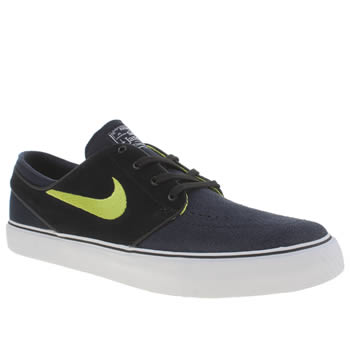 Mens Nike Skateboarding Navy & Black Zoom Stefan Janoski Trainers