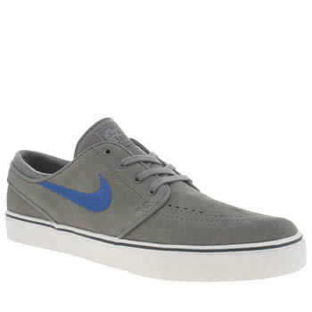 Mens Nike Skateboarding Light Grey Zoom Stefan Janoski Trainers