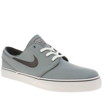 Mens Nike Skateboarding Light Grey Zoom Stefan Janoski Pr Trainers