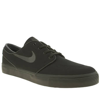 Nike Skateboarding Black & Grey Zoom Stefan Janoski Trainers