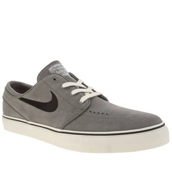 Mens Nike Skateboarding Grey & Black Zoom Stefan Janoski Trainers