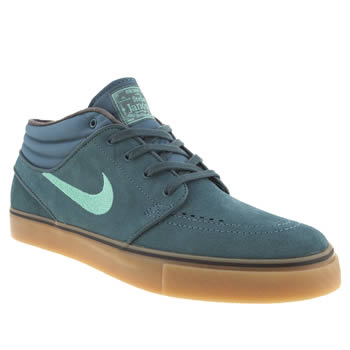 mens nike skateboarding dark green zoom stefan janoski trainers