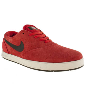 mens nike skateboarding red eric koston 2 trainers